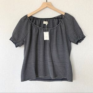 Madewell Texture & Thread Peasant Top Striped